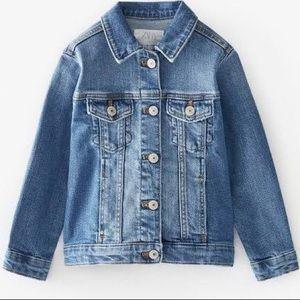 NWT Zara Basic Denim Jacket Youth Size 11/12